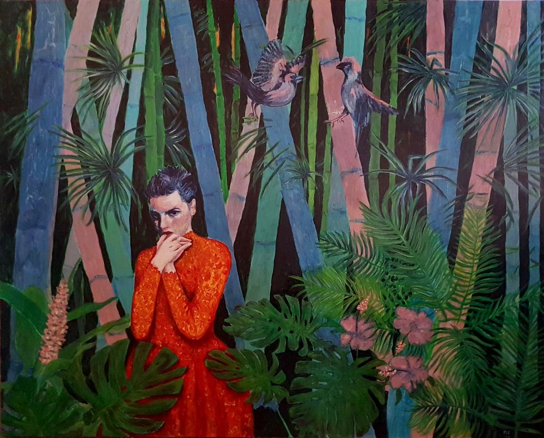 Bambus 2019 Acryl auf Lwd 120 x 150 cm