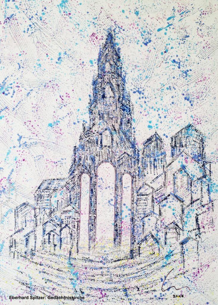 Spitzer, Eberhard, Gedächtniskirche blau