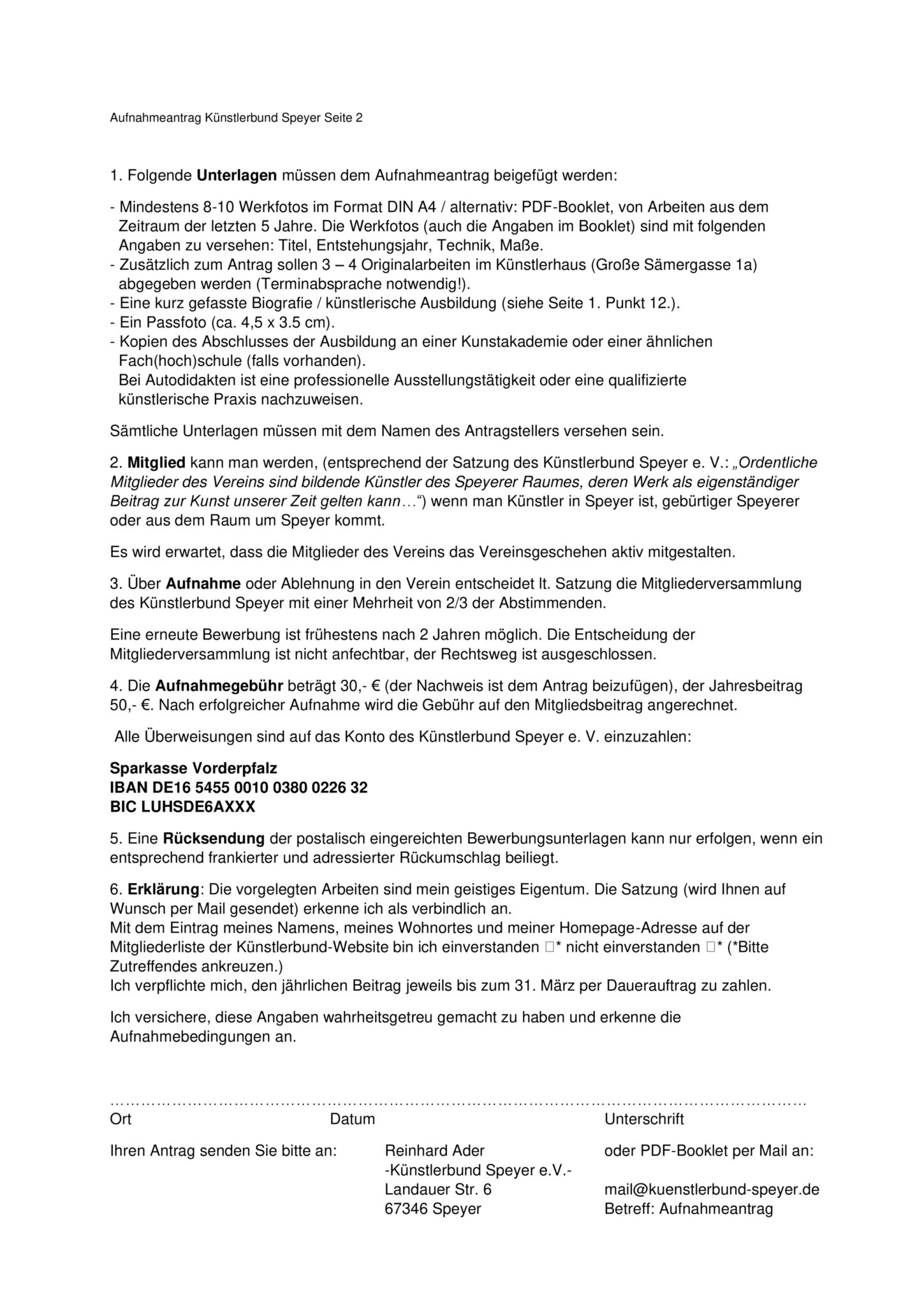 Künstlerbund Speyer Aufnahmeantrag_Seite02a